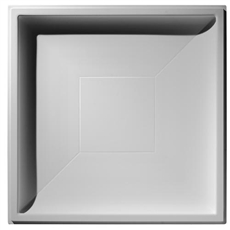 Contemporary Coffer Plaster Ceiling Tile