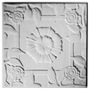 Spanish Rose Plaster Ceiling Tile