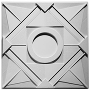 Deco 1 - Circle Plaster Ceiling Tile