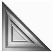 Classic Triangle Plaster Ceiling Tile