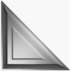Coffered Egg & Dart Triangle Plaster Ceiling Tile