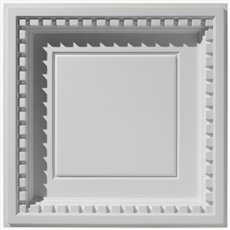 Coffered Dentil With Revealed Edge Plaster Ceiling Tile