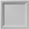 English Lamb's Tongue Blank Center Plaster Ceiling Tile