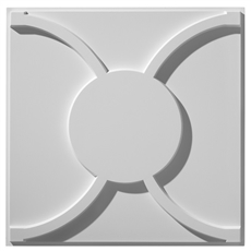 Cloverleaf Flat Center Plaster Ceiling Tile