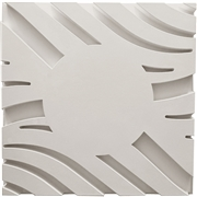 Wave A Smooth Center Plaster Ceiling Tile