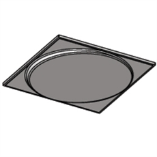Off Kilter Circle Plaster Ceiling Tile