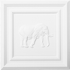 Classic Panel Elephant for 9/16 Grid Plaster Ceiling Tile