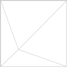 Pyramid 4 for 9/16 Grid Plaster Ceiling Tile