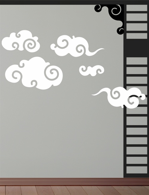 Asian Clouds Wall Decals Stickers - Wall decals cars