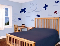 Airplanes wall decals stickers