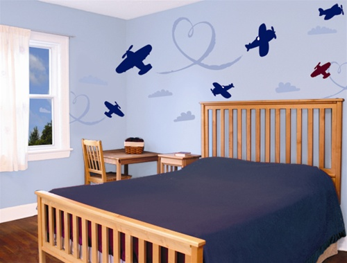 Beau Airplanes Wall Decals Stickers