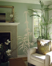 Bamboo tree branch wall decal stickers