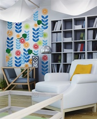 Bloom flower wall decals stickers