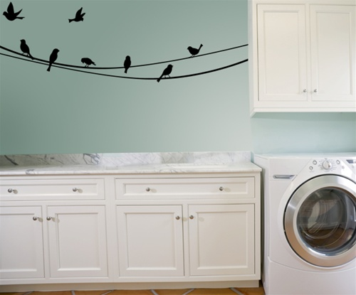 bird on a wire wall decal sticker