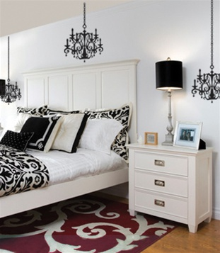 Wall decal sticker chandelier wall decal sticker mozeypictures Gallery