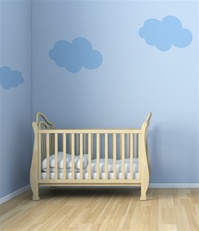 Cloudy wall decals stickers