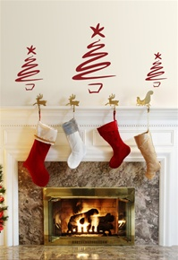 "Christmas Tree - ""Swash"" wall decals stickers"