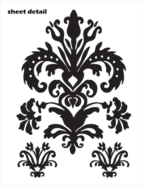 Superb These Damask Wall Decals ...