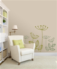 Modern Dandelion flower wall decals stickers