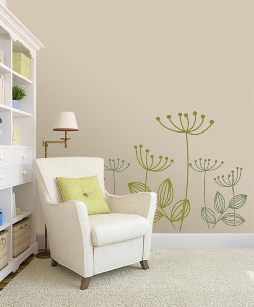 Modern Dandelion Flower Wall Decals Stickers