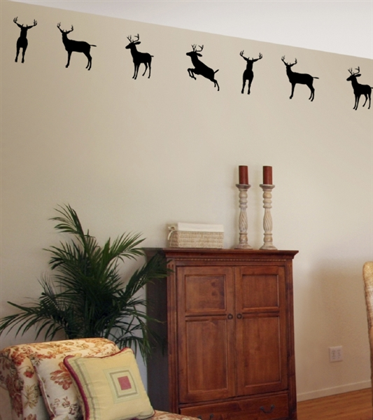 Exceptionnel Deer Buck Border Wall Decals Stickers