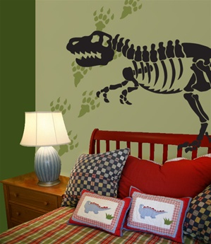 Dinosaur Bones & Tracks Wall Decals Stickers