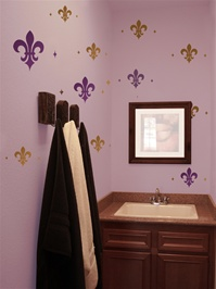 Fleur de lis wall decals stickers