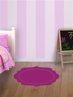 Faux Throw Rug wall decal sticker