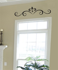 Curly Door Header Ornament wall decal sticker