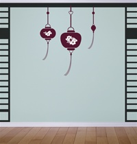 Hanging Lanterns wall decals stickers