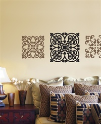 Ironworks ornamental wall decals stickers