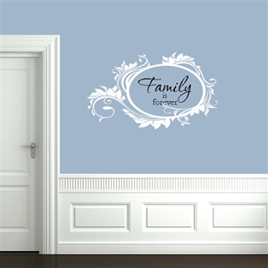 Leafy Rounded Message Frame Wall Decals Stickers