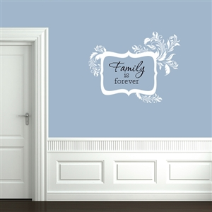 Leafy Scallop Message Frame Wall Decals Stickers