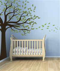 Leafy Shade Tree wall decal sticker