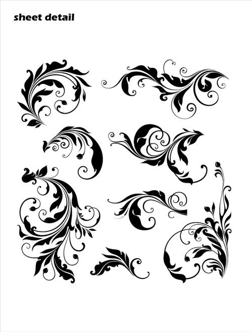 Leafy Swirls Scrolls Wall Decals Stickers