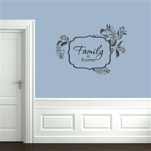 Leafy Shape Message Frame Wall Decals Stickers