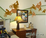 Motorbikes wall decals stickers