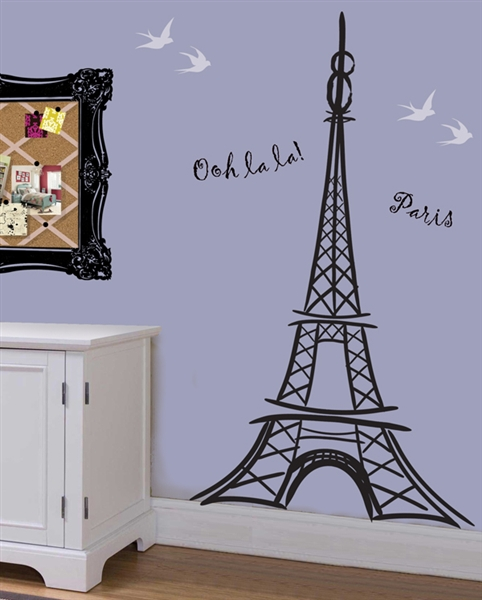 129e04976c0 Artful Eiffel Tower wall decal sticker