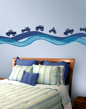Off Roadin trucks wall decal stickers