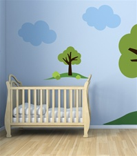 "One Tree Hill- 24"" Tall wall decal sticker"