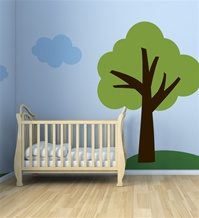 One Tree Hill- 6 Foot Tall wall decal sticker