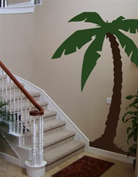 Cal King 7 foot tall Palm Tree wall decal