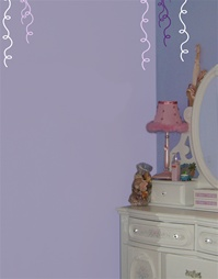 Ribbon wall decals stickers