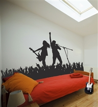 Rock Pop Singer Music Stage Concert Scene wall decals sticker