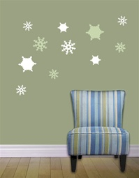 Snowflake wall decals stickers