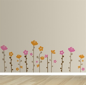 Spring Sprig flower wall decals stickers