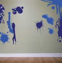 Splatter wall decals stickers