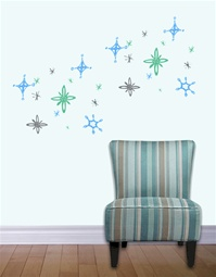 Sparkle Snowflake wall decals stickers