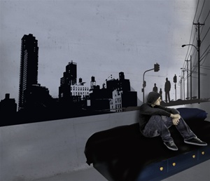 Elegant Street Soul Urban Wall Decals Stickers Part 22