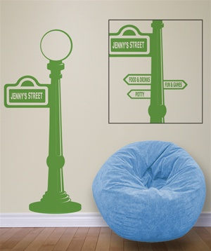 Sesame Street sign post wall decal sticker